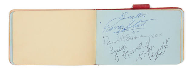 The Beatles: an autograph album signed by the Beatles, Roy Orbison and others, 1960s,