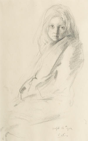 Sir William Nicholson (British, 1872-1949) Study of a young girl