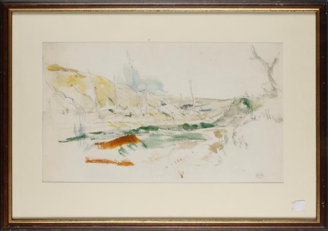 Iain MacNab (British, 1890-1967) Hill Town - Deya, Majorca