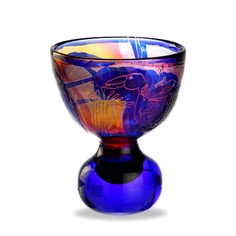 A Kosta Boda Art Glass vase by Goran Warff