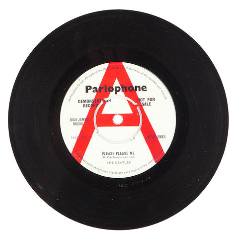The Beatles: a demo pressing of the single 'Please Please Me'/'Ask Me Why', 1963,