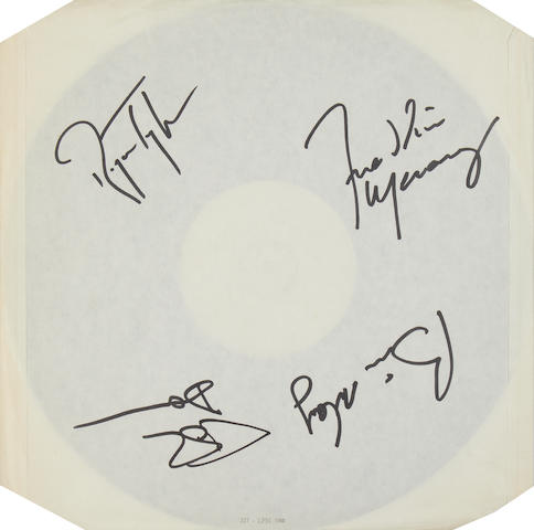 Queen: an autographed white label pressing of the album 'A Kind Of Magic', 1986,