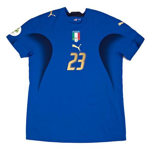 2006 World Cup semi-final Marco Materazzi match worn Italy shirt