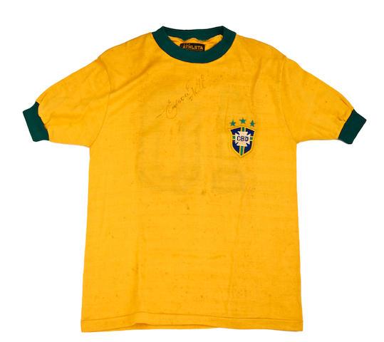 1970 Pele match worn (first half) Brazil shirt v Mexico