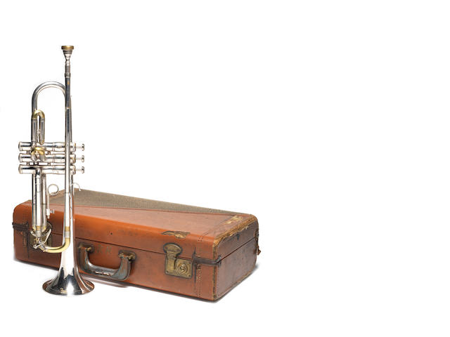Old Super Trumpet - owned by Ronnie Hunt used on the title theme song for Coronation Street c.1962