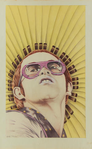 Elton John : A portrait by George Underwood