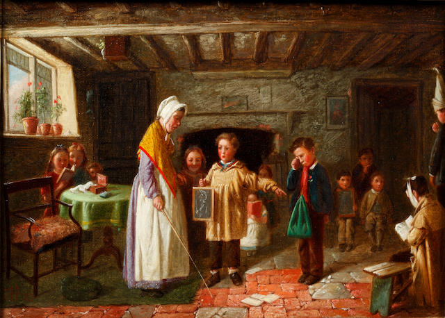 Charles Hunt (British, 1803-1877) The schoolroom lesson