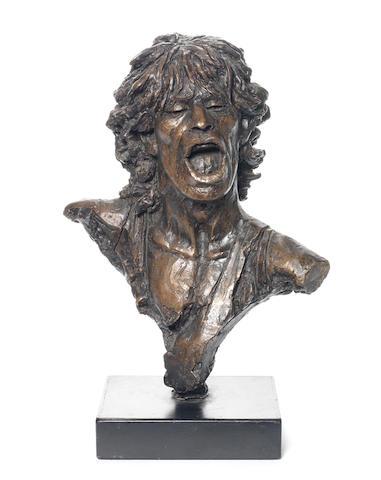 John Somerville (British): A bust of Mick Jagger,