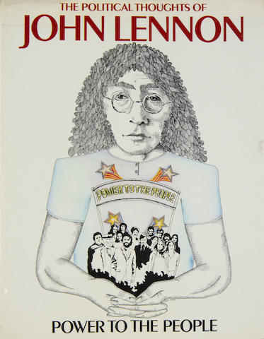 John Lennon: a rare copy of the unpublished book,  'Power To The People The Political Thoughts Of John Lennon',