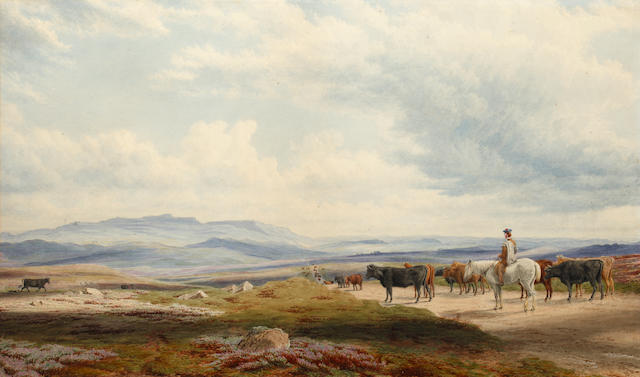 William Turner of Oxford, OWS (British, 1789-1862) In the Highlands