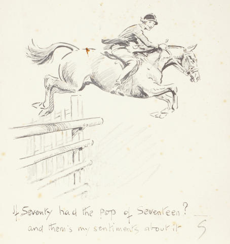 Charlie Johnson Payne, 'Snaffles' (British, 1884-1967) 'If Seventy had the pop of Seventeen?', Christmas card
