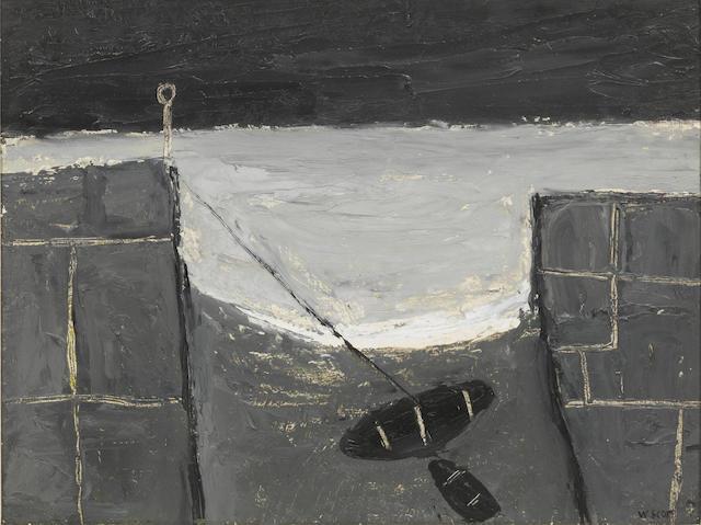 William Scott R.A. (British, 1913-1989) Cornish Harbour 27 x 35 cm. (10 5/8 x 13 3/4 in.)