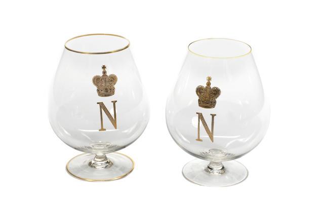 Steve McQueen - The Thomas Crown Affair: A pair of brandy glasses,