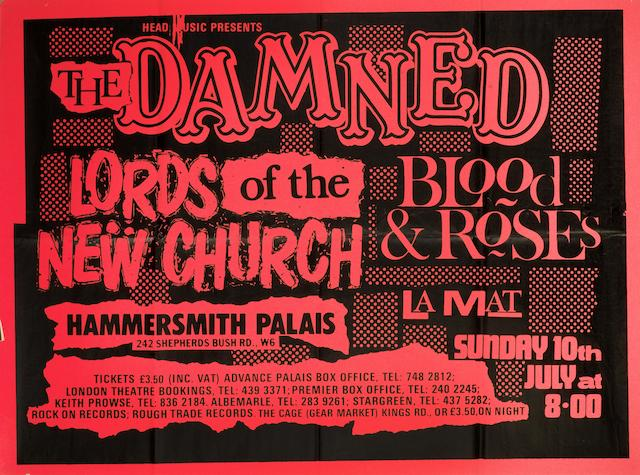 Punk, Rock and Heavy Metal; a collection of concert posters, circa 1970s and 1980s,
