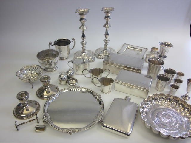 A quantity of silver items  (Qty)