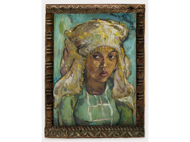 Irma Stern (South African, 1894-1966) The Malay Bride within original Zanzibar frame