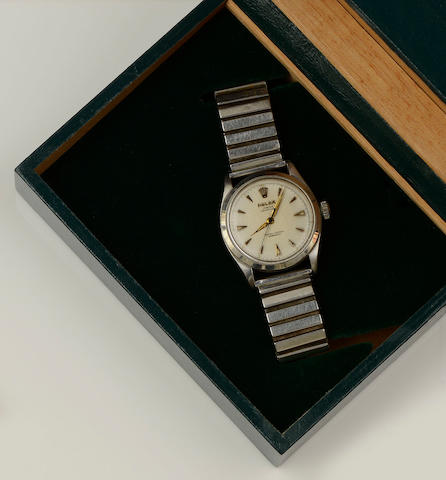 Rolex: A gentleman's Oyster Perpetual stainless steel wristwatch