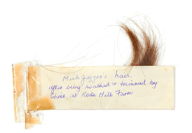 Mick Jagger: A lock of Mick Jagger's hair, 1960s,