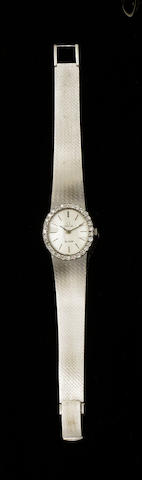 Omega: A lady's diamond set De Ville wristwatch