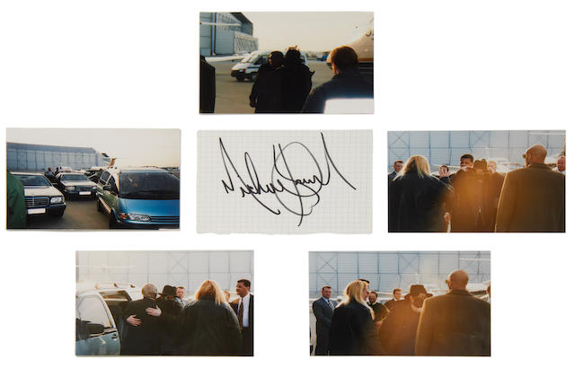 Michael Jackson: An autograph and photographs, 1990s,