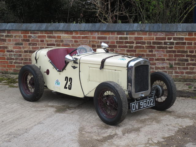1930 Austin Seven Ulster Sports  Chassis no. to be advised Engine no. to be advised