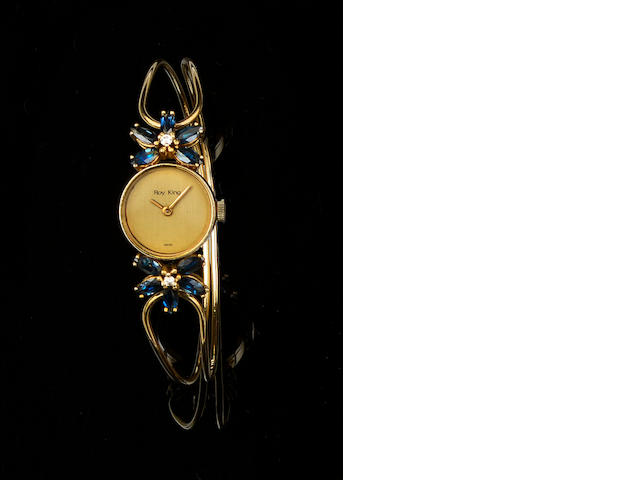 Roy King: A lady's sapphire and diamond set wristwatch