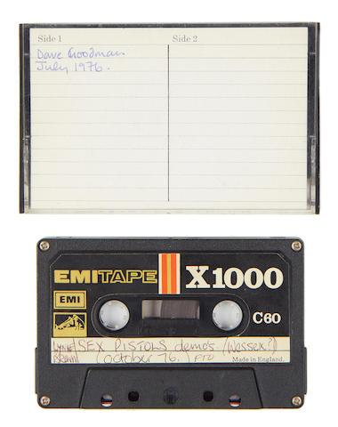 Sex Pistols: a demo cassette recording,  1976,