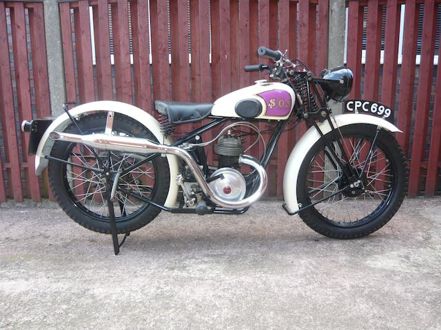 Ex-Tommy Meeten,1935 S.O.S. 172cc 'Brooklands Special' Frame no. AS 2037 Engine no. SY 577