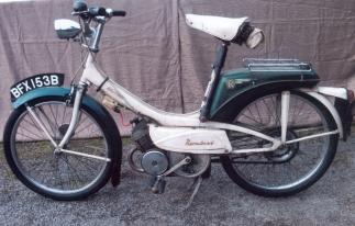 1964 Raleigh 49cc RM6 Runabout Moped, Frame no. 6-R17867 Engine no. R63755