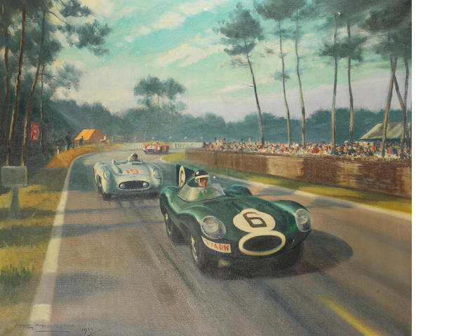 Roy Nockolds (1911-1980); Jaguar at Le Mans 1955,