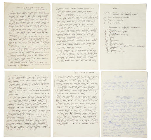 John Entwistle: handwritten sleeve notes for his solo album 'Whistle Rymes', and song list, circa 1972,