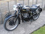 1954 Velocette 498cc MSS Frame no. RS3931 Engine no. 10222