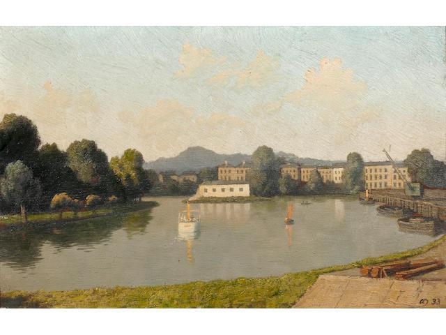 "Algernon Cecil Newton (British, 1880-1968) ""The Thames, Surbiton"""