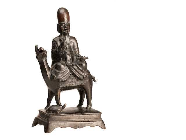 A bronze incense burner in the form of Shoulao  Ming
