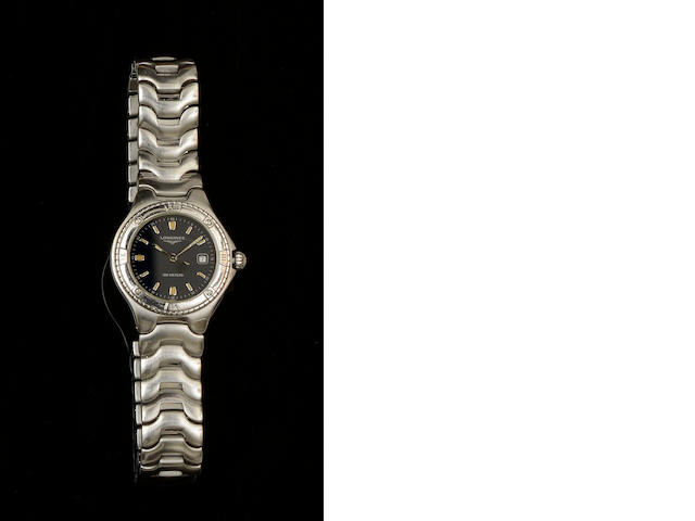 Longines: A Conquest stainless steel quartz lady's wristwatch