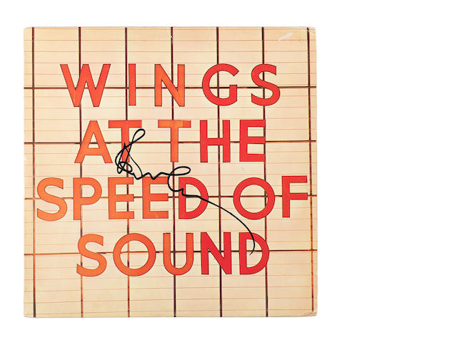 Paul McCartney & Wings: An autographed copy of the album 'Wings At The Speed Of Sound',
