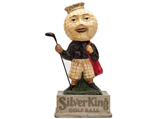 A fine Silver King golf ball point of sale advertising figurine