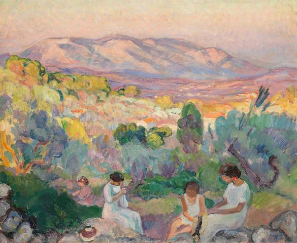 Henri Lebasque (French, 1865-1937) Après-Midi à Fréjus
