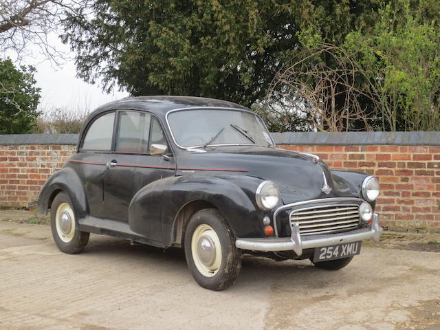 1959 Morris Minor 1000 Saloon, Chassis no. 7A2S3769073 Engine no. 373147