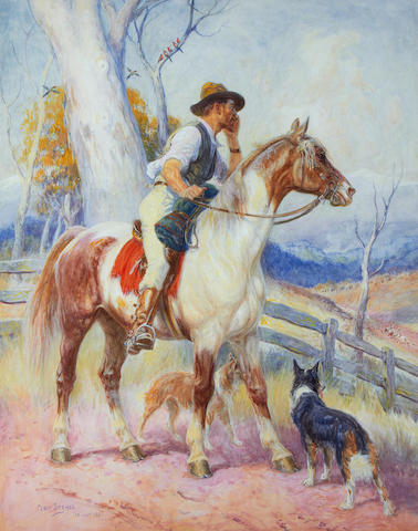 Percy Frederick Seaton Spence (Australian, 1868-1933) Coo-ee; and The Pioneer. (2)