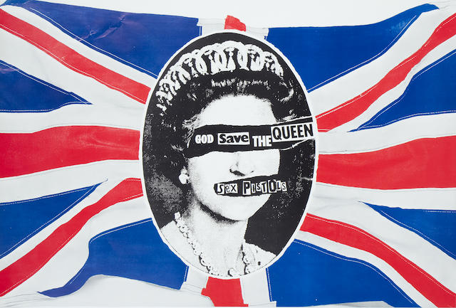The Sex Pistols: A 'God Save The Queen' poster, 1977,