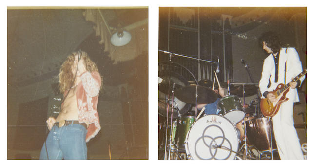 Led Zeppelin: Photographs of the group onstage at Aberdeen, 25th January 1973,