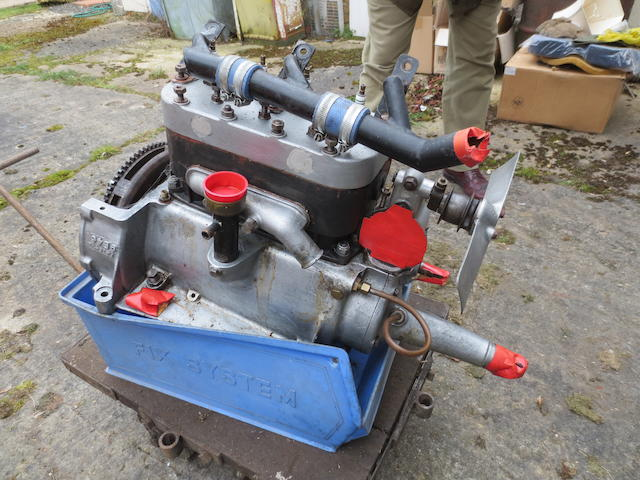 An Austin 7 Engine, numbered 136161, belived fully rebuilt, with Aluminium cylinder head.,