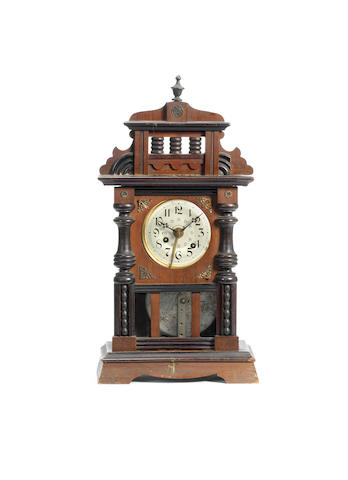 Mick Jagger: A musical mantle clock, German, circa 1900,