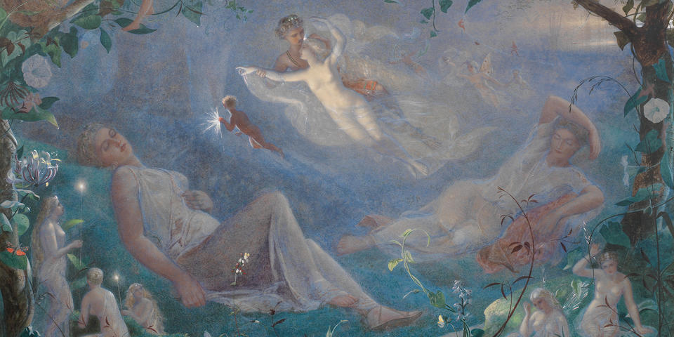 John Simmons (British, 1823-1876) A scene from A Midsummer Night's Dream 28 9/16 x 37 5/8in (72.5 x 95.5cm)