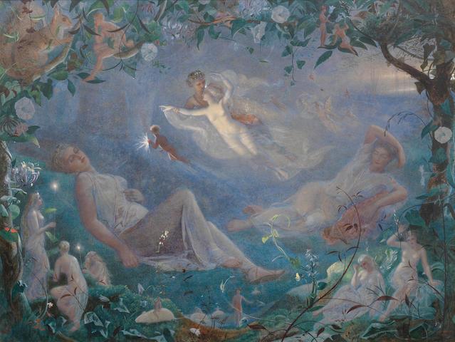 John Simmons (British, 1823-1876) Scene from A Midsummer Night's Dream