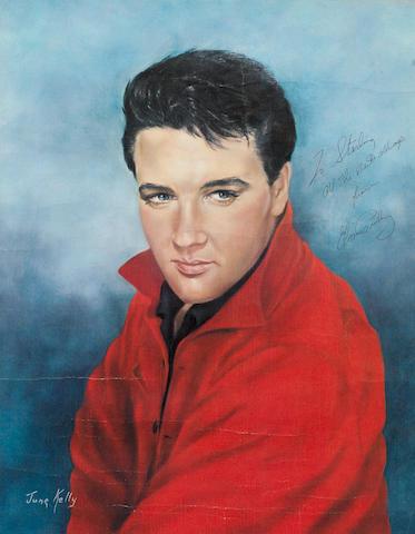 Elvis Presley: An autographed portrait print,