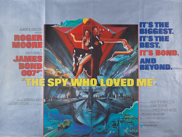 James Bond/ Roger Moore: Three British quad posters,  Eon/ United Artists, 1977-1983, titles including:3