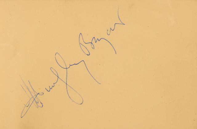 Film star signatures: A collection of autographs in two books,  1950s,