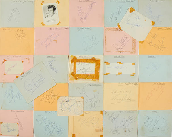 Various artists: A collection of rock and pop-related autographs, 1960s,